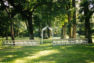 Wedding arches in the woods