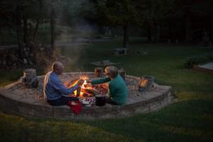 Cedar Crest Lodge fire pit