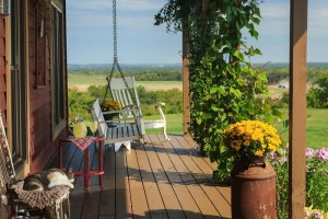 Cedar Crest Lodge porch with swing