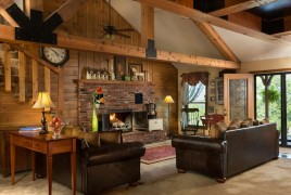 Cedar Crest Lodge fire place