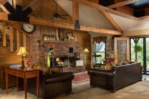 Cedar Crest Lodge fire place