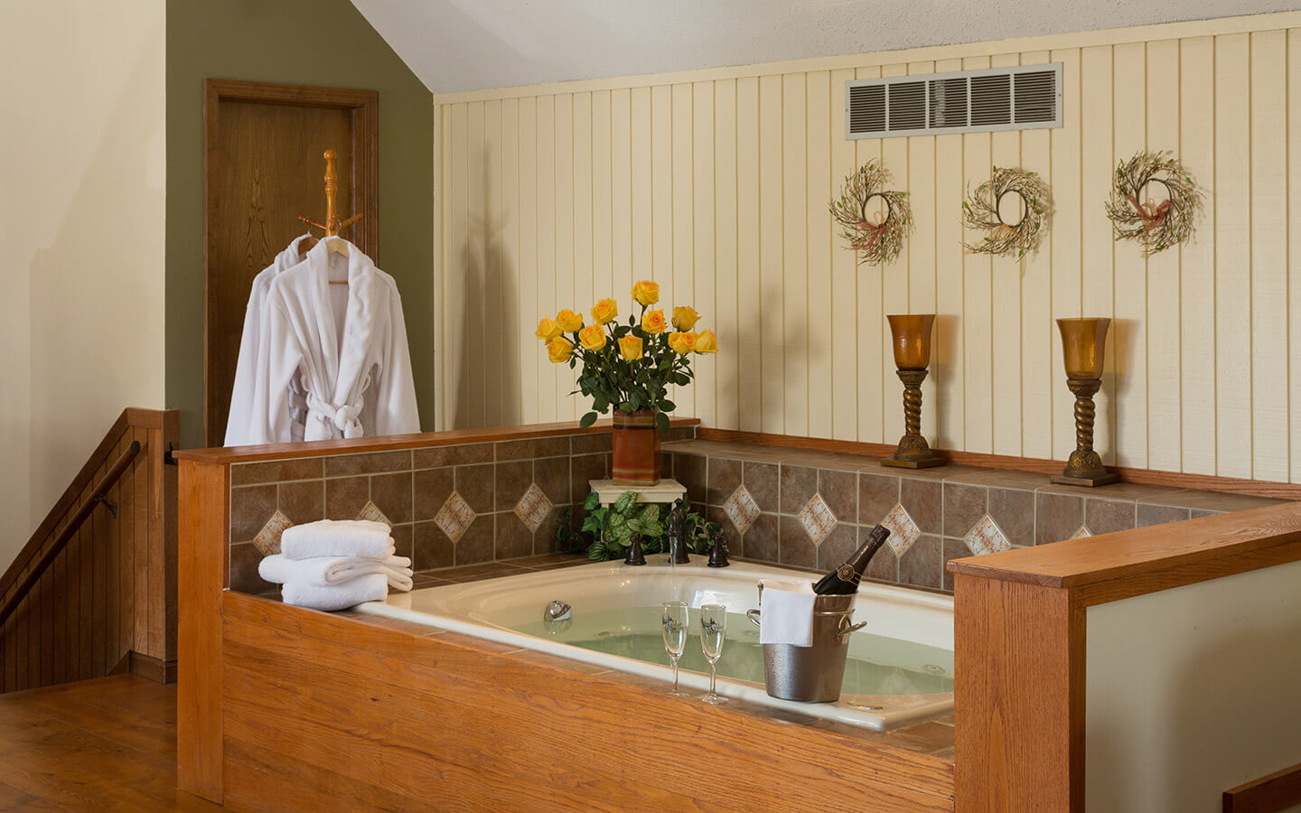 Bath at a Kansas Bed and Breakfast