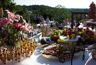 A wedding buffet