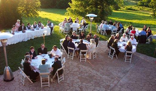 A Kansas wedding reception