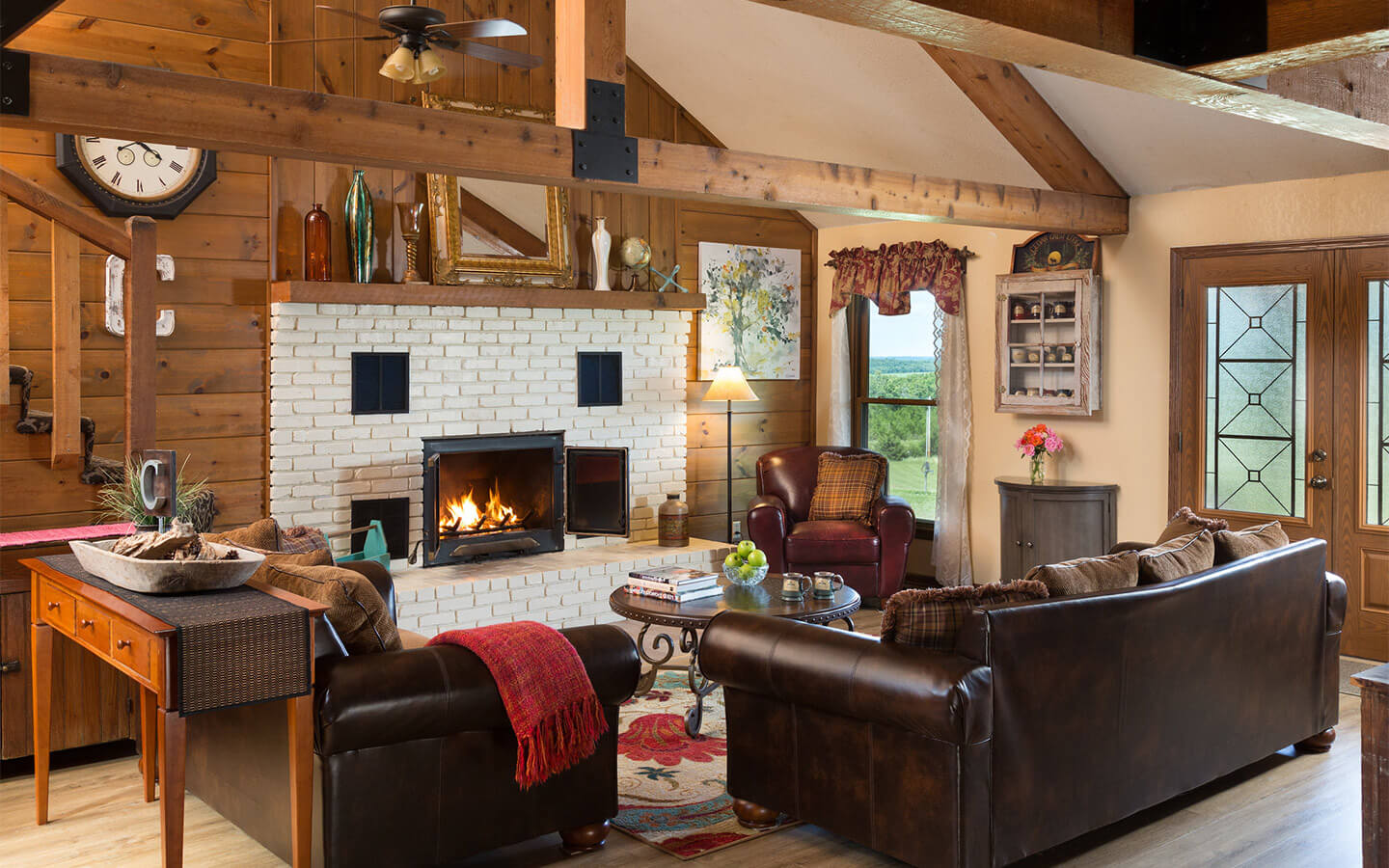 Inviting common spaces at Cedar Crest Lodge