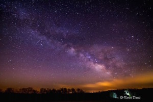A photo of the Milky Way