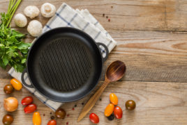 Ingredients for cooking with a skillet