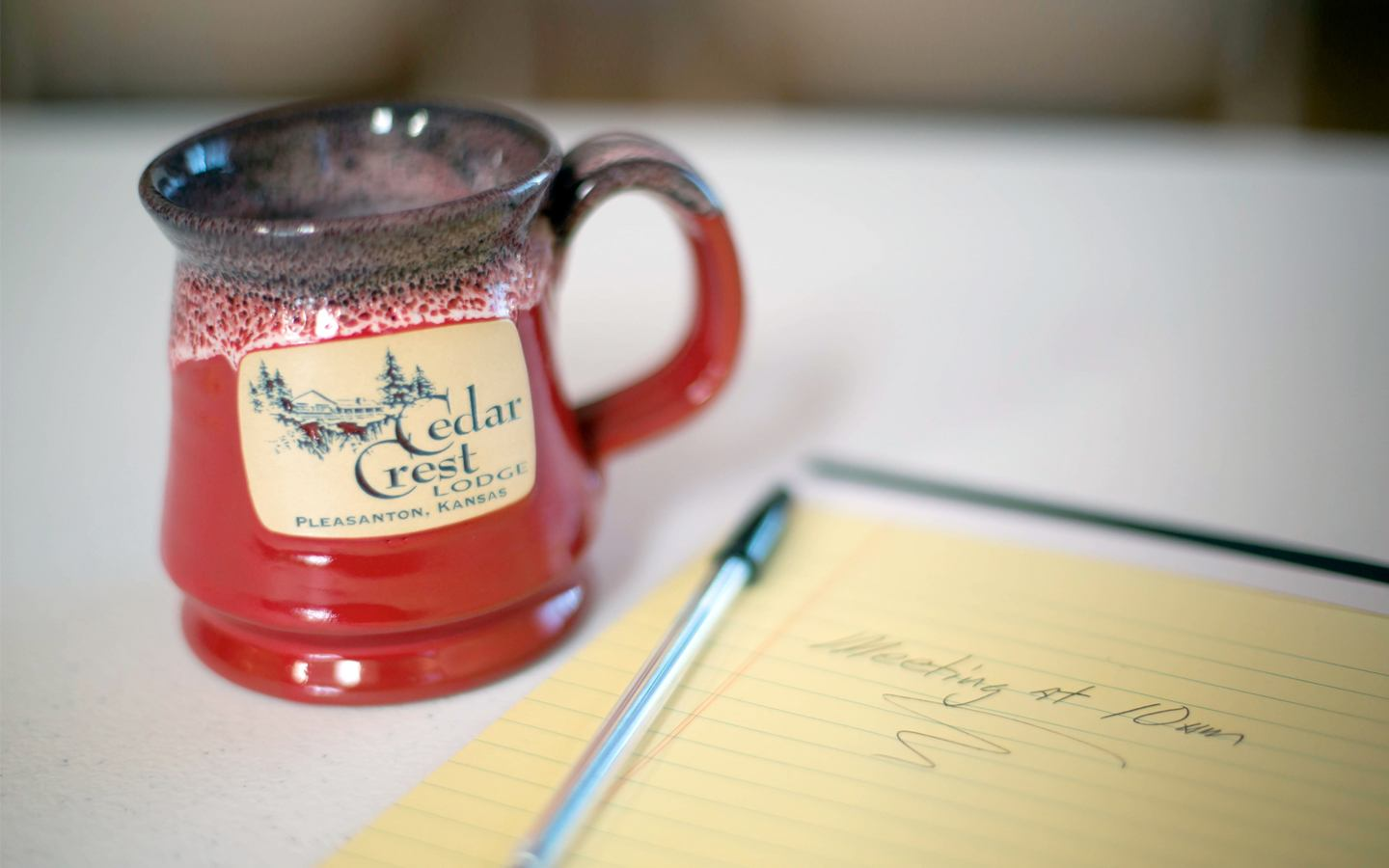 Cedar Crest Mug and Notepad