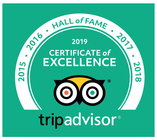 TripAdvisor 2019 Hall of Fame Award - Cedar Crest Lodge